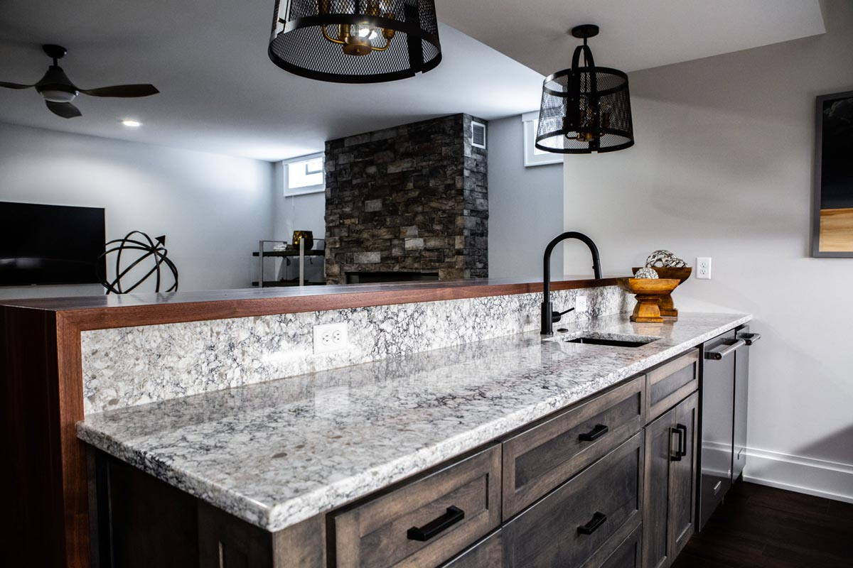 aura countertop kitchen island